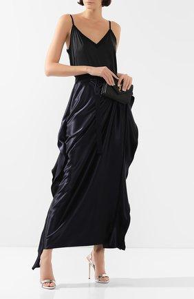 Женские кожаные босоножки sophie GIUSEPPE ZANOTTI DESIGN серебряного цвета, арт. I700047/044 | Фото 2