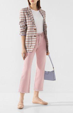 Женские кожаные мокасины TOD'S светло-розового цвета, арт. XXW29C000100W0 | Фото 2