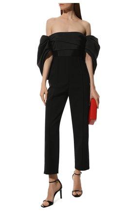 Женские кожаные босоножки bea SAINT LAURENT черного цвета, арт. 612330/0NP00 | Фото 2 (Подошва: Плоская; Каблук высота: Высокий; Материал внутренний: Натуральная кожа; Каблук тип: Шпилька)