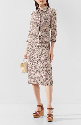 Женские кожаные босоножки aleili 100 JIMMY CHOO коричневого цвета, арт. ALEILI 100/VAC | Фото 2