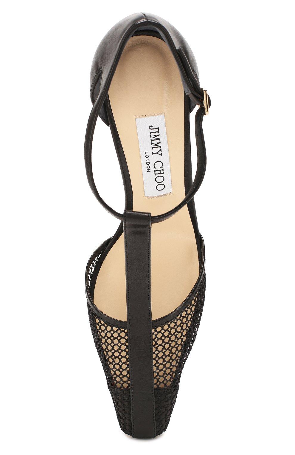 Женские комбинированные туфли batu 85 JIMMY CHOO черного цвета, арт. BATU 85/ZHP | Фото 5