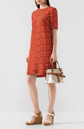 Женские кожаные босоножки delphi 100 JIMMY CHOO кремвого цвета, арт. DELPHI 100/VA0 | Фото 2