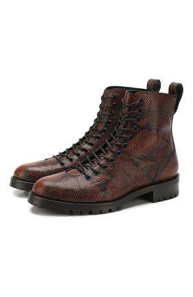 Женские кожаные ботинки k-cruz JIMMY CHOO коричневого цвета, арт. K-CRUZ FLAT/NKE | Фото 1