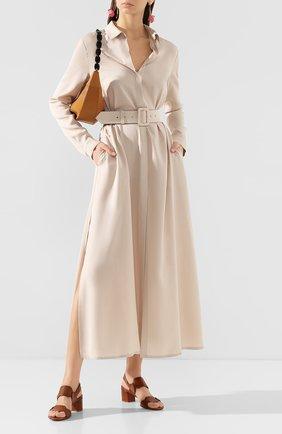 Женские кожаные босоножки SANTONI коричневого цвета, арт. WHTH58734HI2TLGAC30 | Фото 2