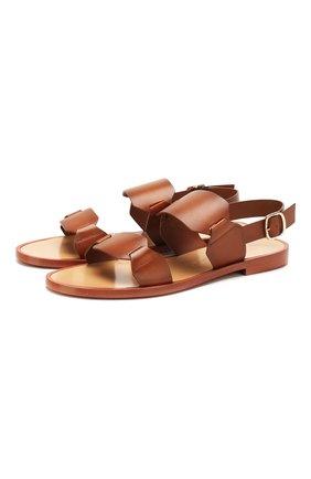 Женские кожаные сандалии SANTONI коричневого цвета, арт. WHLK58718HI1TLGAC30 | Фото 1
