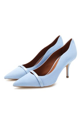 Женская замшевые туфли maybelle 70 MALONE SOULIERS голубого цвета, арт. MAYBELLE 70-6 | Фото 1