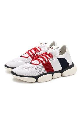 Мужские текстильные кроссовки bubble sneaker MONCLER белого цвета, арт. F1-09A-4M702-40-01A6H | Фото 1