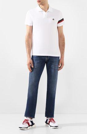 Мужские текстильные кроссовки bubble sneaker MONCLER белого цвета, арт. F1-09A-4M702-40-01A6H | Фото 2