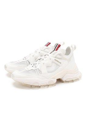 Женские комбинированные кроссовки MONCLER белого цвета, арт. F1-09B-4M709-40-02S75 | Фото 1