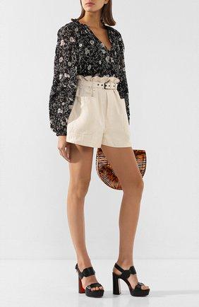 Женские кожаные босоножки SANTONI черного цвета, арт. WHV058719HX2TLGAN01 | Фото 2