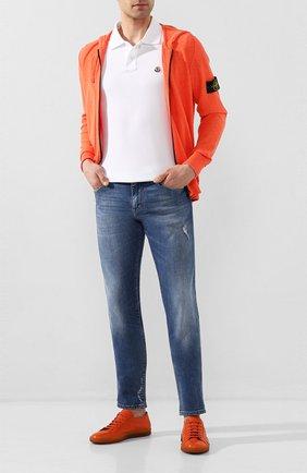 Мужские кожаные кеды ANTONIO MAURIZI оранжевого цвета, арт. 9980/CERV0   Фото 2