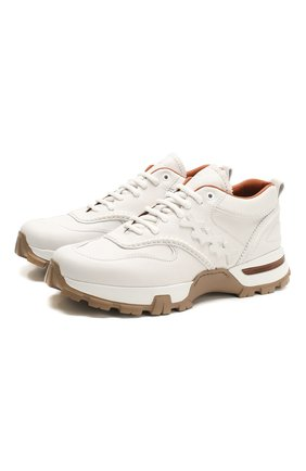 Мужские кожаные кроссовки ZEGNA COUTURE белого цвета, арт. A4368X-LHBFS | Фото 1