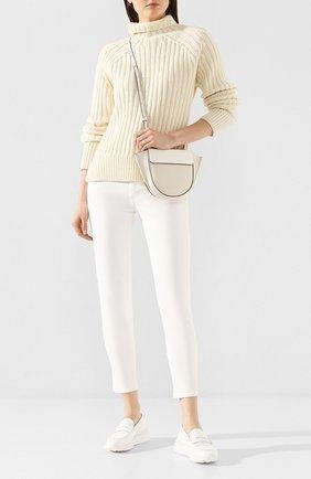 Женские кожаные пенни-лоферы TOD'S белого цвета, арт. XXW80A00012WEN | Фото 2