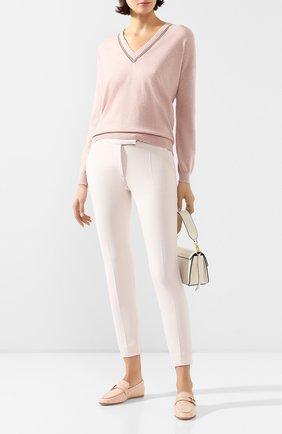 Женские кожаные лоферы TOD'S светло-розового цвета, арт. XXW79A0CX60NWT | Фото 2