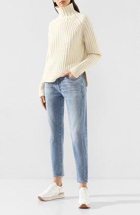 Женские кожаные кроссовки HOGAN белого цвета, арт. HXW4830CB81IEC | Фото 2