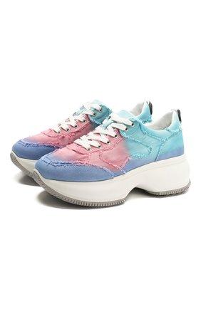 Женские текстильные кроссовки HOGAN разноцветного цвета, арт. HXW4350BP22YJ3 | Фото 1