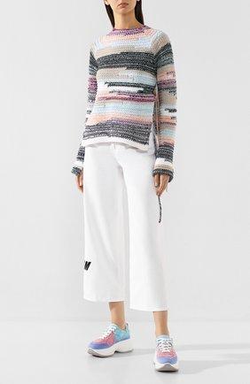 Женские текстильные кроссовки HOGAN разноцветного цвета, арт. HXW4350BP22YJ3 | Фото 2