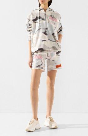 Женские текстильные кроссовки HOGAN бежевого цвета, арт. HXW4350BP20MVJ | Фото 2