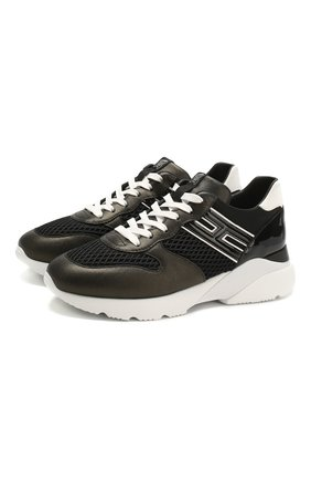 Женские комбинированные кроссовки HOGAN черного цвета, арт. HXW3850BF50N1I | Фото 1