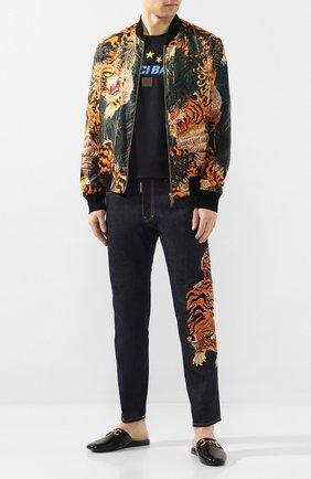 Мужские кожаные сабо GUCCI черного цвета, арт. 604075/D3V00 | Фото 2