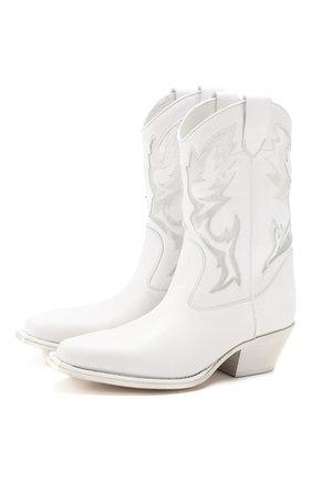 Женские кожаные сапоги VIC MATIE белого цвета, арт. 1X8456D.X16S040102 | Фото 1