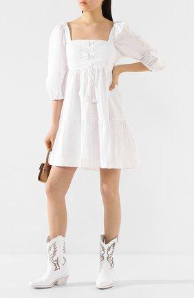Женские кожаные сапоги VIC MATIE белого цвета, арт. 1X8456D.X16S040102 | Фото 2