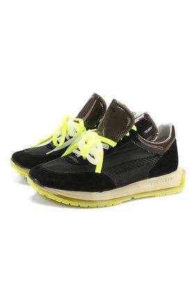 Мужские комбинированные кроссовки RBRSL черного цвета, арт. 7X2260U.V79C4HTD25   Фото 1