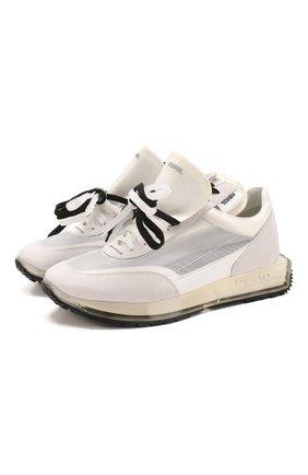 Мужские комбинированные кроссовки RBRSL белого цвета, арт. 7X2260U.V79C4HTD22   Фото 1