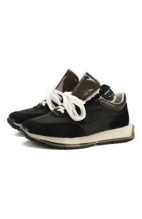 Мужские комбинированные кроссовки RBRSL черного цвета, арт. 7X2260U.V79C4HT002   Фото 1