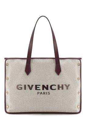 Женская сумка-тоут bond medium GIVENCHY фиолетового цвета, арт. BB50AVB0RY | Фото 1
