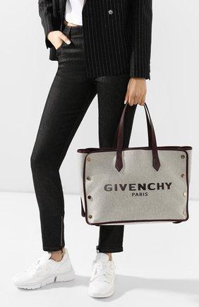 Женская сумка-тоут bond medium GIVENCHY фиолетового цвета, арт. BB50AVB0RY | Фото 2