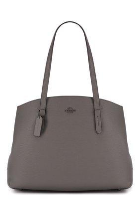 Женская сумка charlie large COACH серого цвета, арт. 78220 | Фото 1