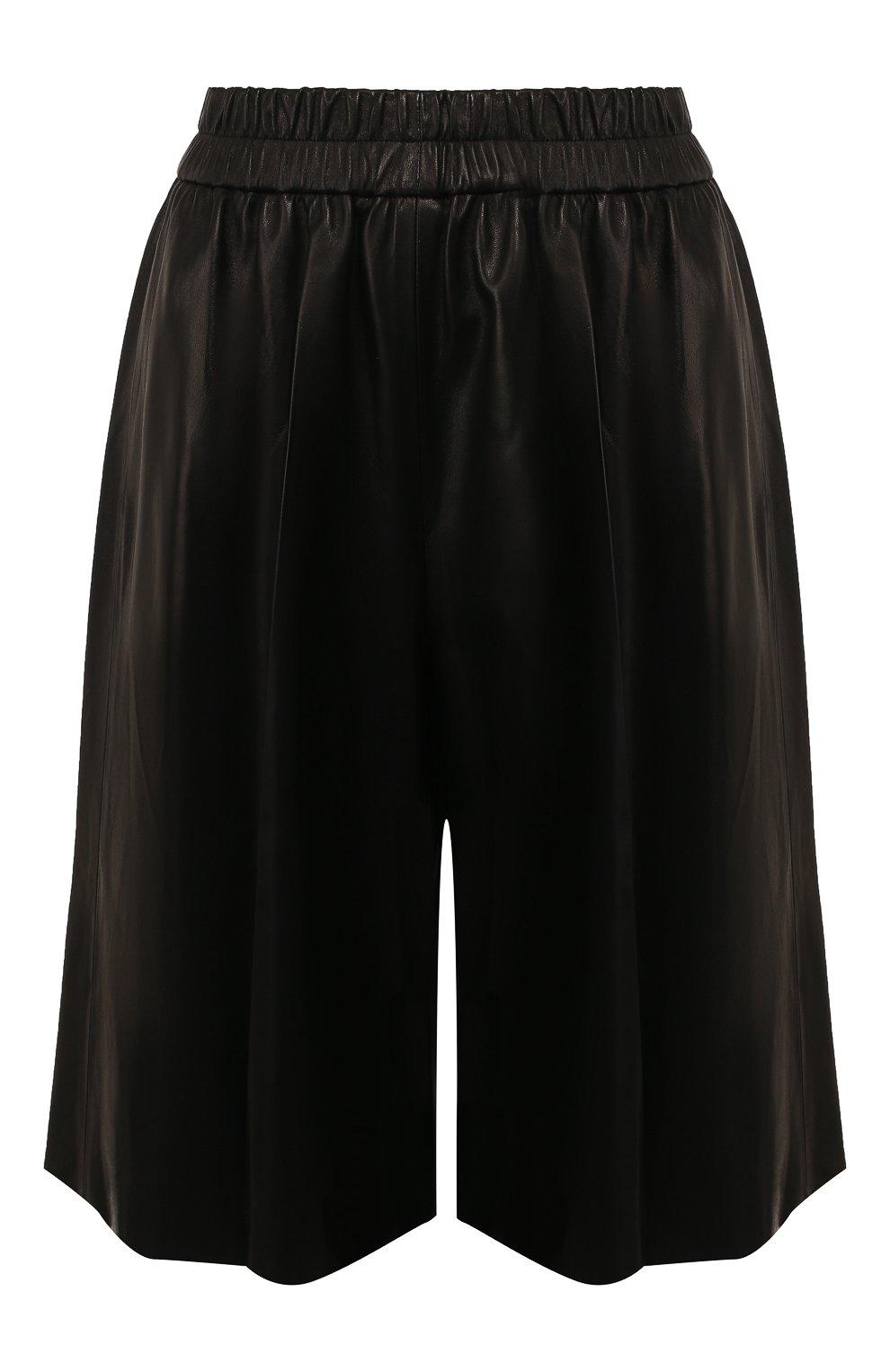 Женские кожаные шорты TOM FORD черного цвета, арт. SHL004-LEX228 | Фото 1