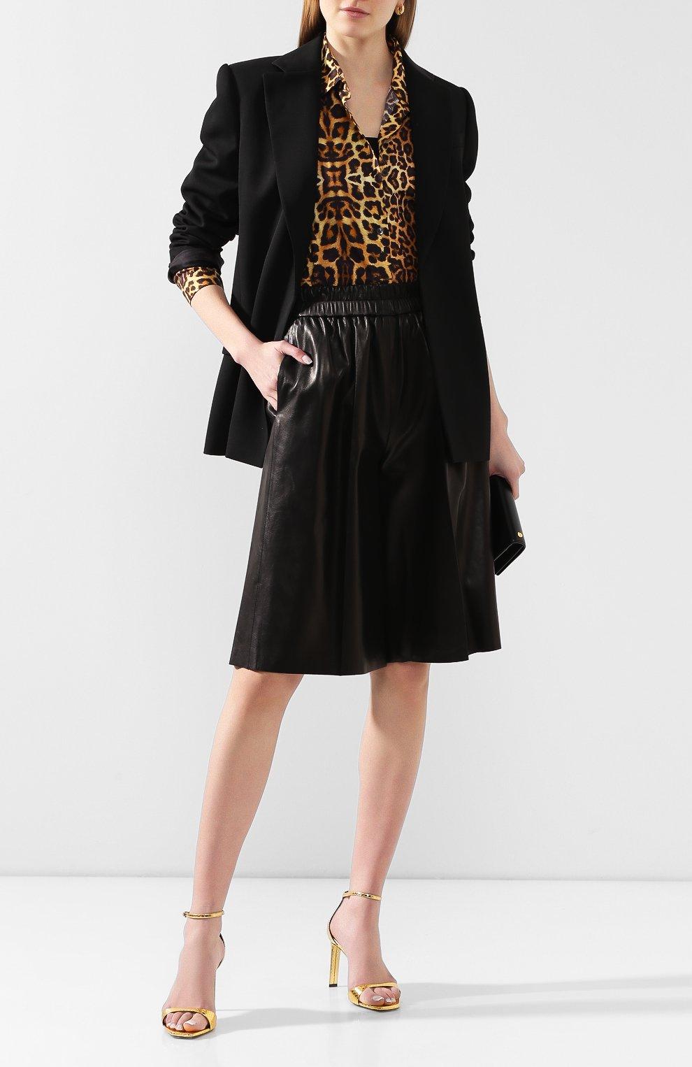 Женские кожаные шорты TOM FORD черного цвета, арт. SHL004-LEX228 | Фото 2