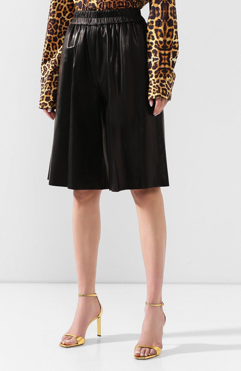 Женские кожаные шорты TOM FORD черного цвета, арт. SHL004-LEX228 | Фото 3