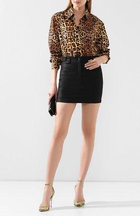 Женская юбка TOM FORD черного цвета, арт. GCD036-DEX103 | Фото 2