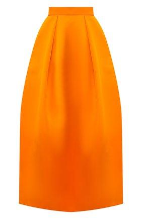 Женская шелковая юбка TOM FORD оранжевого цвета, арт. GC5504-FAX671 | Фото 1