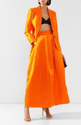 Женская шелковая юбка TOM FORD оранжевого цвета, арт. GC5504-FAX671 | Фото 2