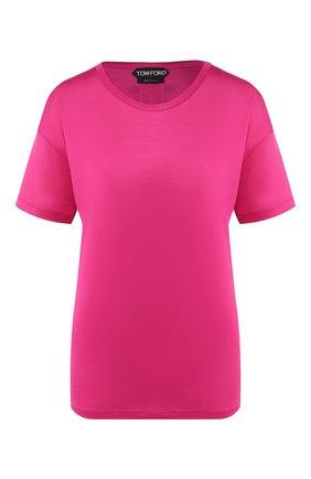 Женская шелковая футболка TOM FORD фуксия цвета, арт. TSJ383-FAX025 | Фото 1