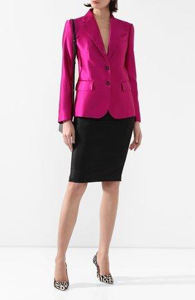 Женская юбка TOM FORD черного цвета, арт. GCD037-DEX103 | Фото 2
