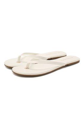 Женские кожаные шлепанцы MELISSA ODABASH белого цвета, арт. SANDALS   Фото 1