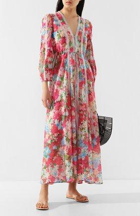 Женские кожаные шлепанцы MELISSA ODABASH розового цвета, арт. SANDALS   Фото 2