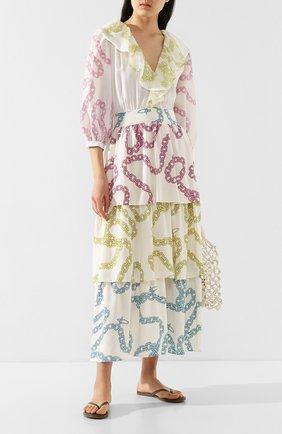 Женские кожаные шлепанцы MELISSA ODABASH хаки цвета, арт. SANDALS | Фото 2