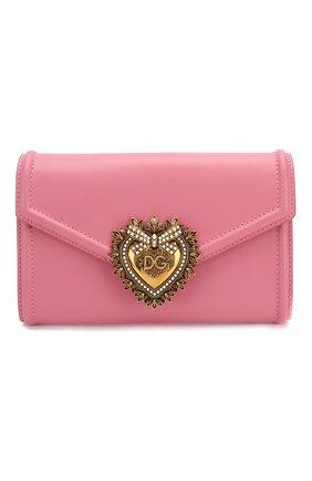Женская поясная сумка devotion DOLCE & GABBANA розового цвета, арт. BB6706/AV893   Фото 1