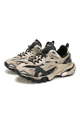 Женские текстильные кроссовки track.2 BALENCIAGA бежевого цвета, арт. 568615/W2GN3 | Фото 1