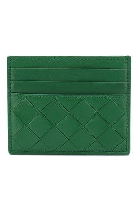 Женский кожаный футляр для кредитных карт BOTTEGA VENETA зеленого цвета, арт. 608078/VCPP3 | Фото 1