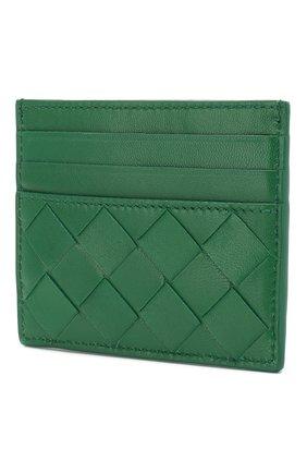 Женский кожаный футляр для кредитных карт BOTTEGA VENETA зеленого цвета, арт. 608078/VCPP3 | Фото 2