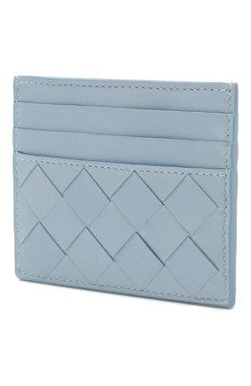 Женский кожаный футляр для кредитных карт BOTTEGA VENETA голубого цвета, арт. 608078/VCPP3 | Фото 2