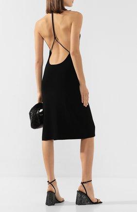 Женские текстильные босоножки blake  ALEXANDER WANG черного цвета, арт. 30C120P091 | Фото 2