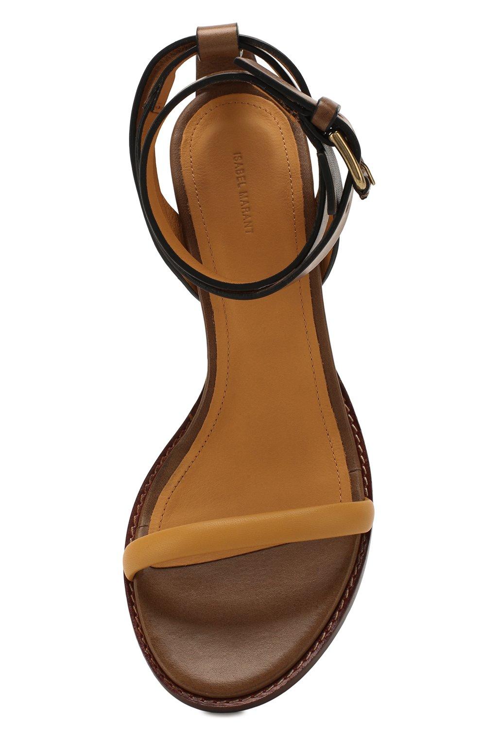 Женские кожаные босоножки jadler ISABEL MARANT хаки цвета, арт. JADLER/SD0441-20P013S | Фото 5